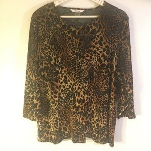 Animal print top retro Tan Jay nice